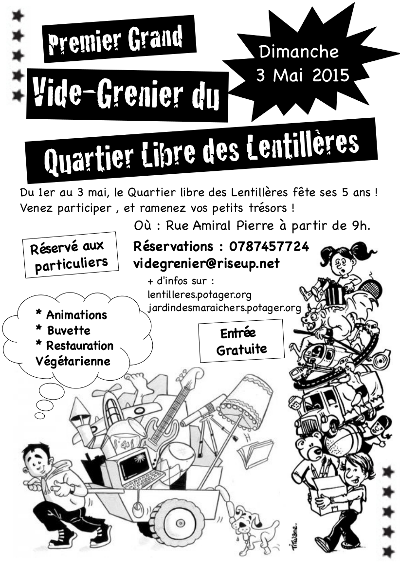 Dimanche 3 mai annul premier vide grenier du quartier libre des lentill re - Vide grenier 77 2015 ...
